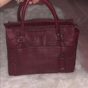 Maroon Purse w/ removable long strap